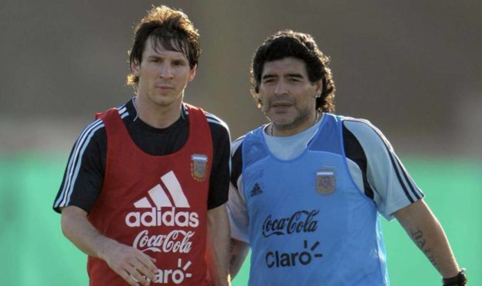 Maradon with messi
