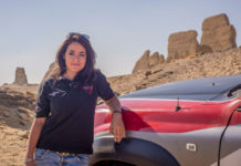 Egypt first woman win rally driver Yara Shalaby