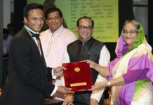 shakib achieve sports award