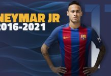 Neymar with new contract