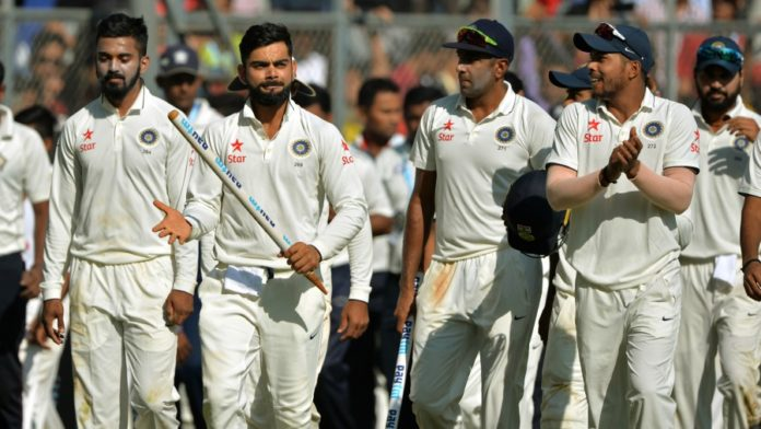 India win test series against India