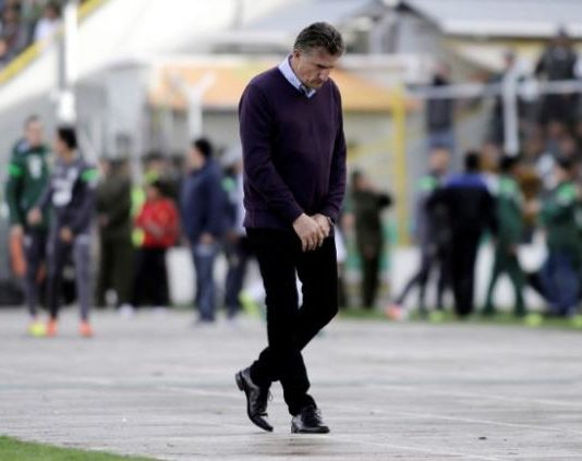 Football Soccer - coach Edgardo Bauza