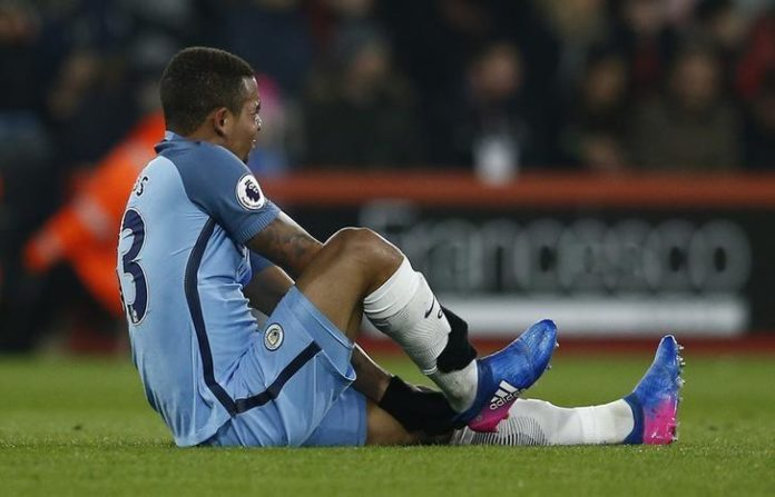 Manchester City's Gabriel Jesus injury