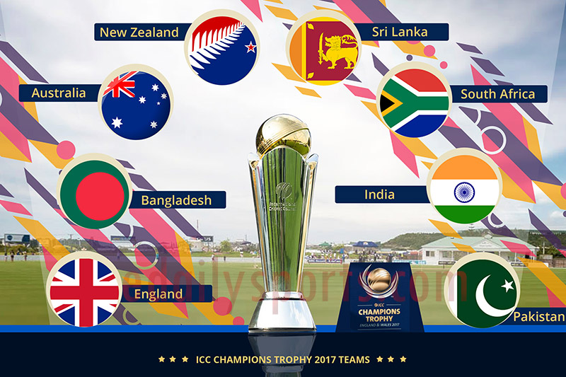 ICC Champions Trophy 2017 Fixtures Venues Team List Time Table