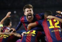 Pique left out off Barcelona squad