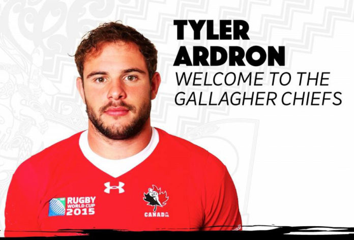 New Zealand's Waikato Chiefs signed Tyler Ardron