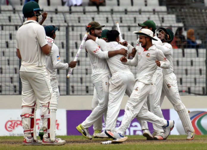 Bangladesh win against Australia in 1st test in dhaka