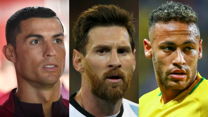 best fifa awards neymar, ronaldo, messi