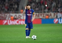 Messi Barcelona draw with Olympiacos in Champions League
