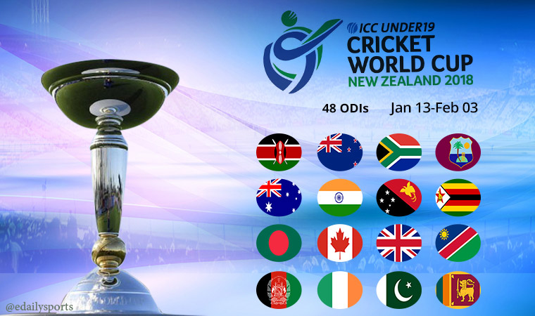 icc u 19 cricket world cup 2018 fixtures schedule time. Black Bedroom Furniture Sets. Home Design Ideas