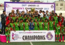 bangladesh beat india saff u15 womens