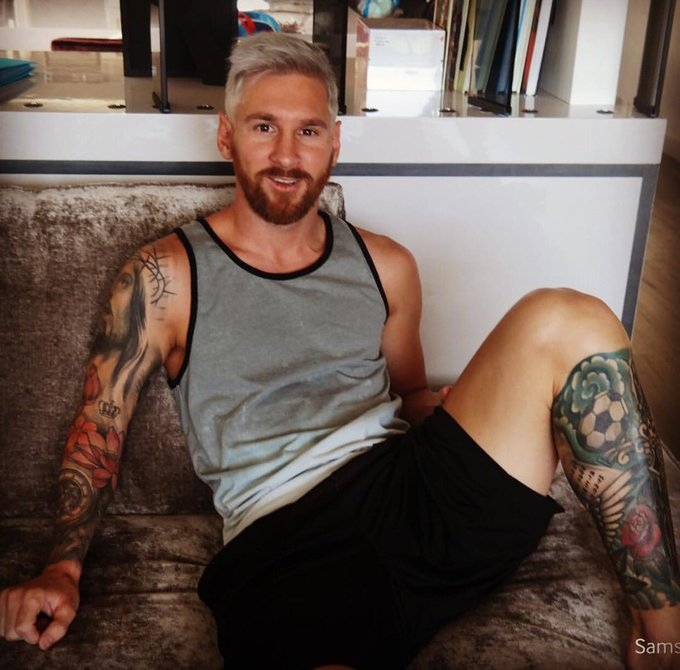 Lionel Messi's new hairstyle