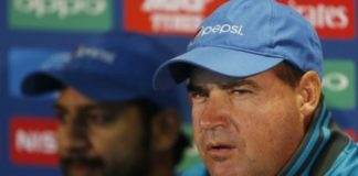 Pakistan coach Mickey Arthur and Sarfraz Ahmed during the press conference