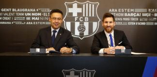 Lionel messi sign contact with barcelona untill 2021