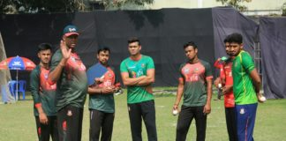Bangladesh practice session